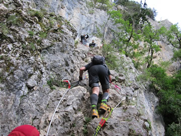 Klettersteig Verdon : Laufreport verdon canyon xtrem